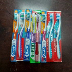 Bundle of Colgate & Oral-B Toothbrushes